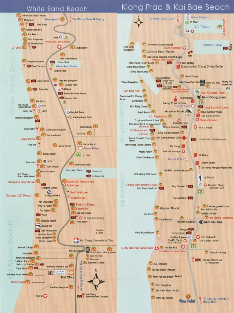Лучшая карта отелей острова Ко Чанг