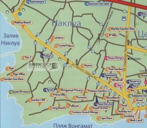 Наклуа Паттайя карта
