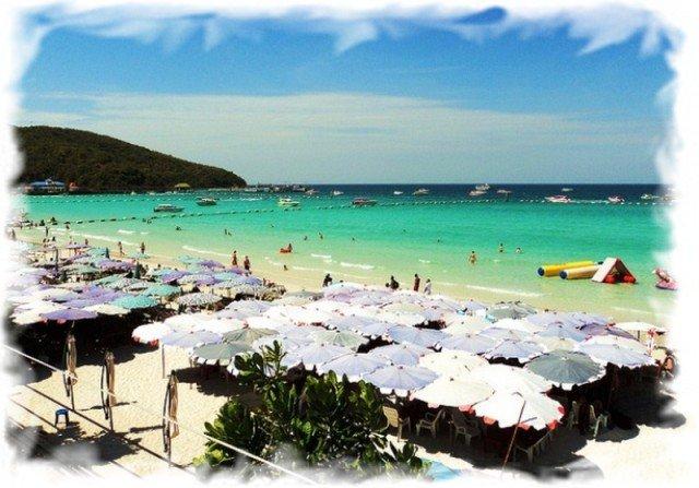 Пляжи острова Ко Лан – подробное описание и карта