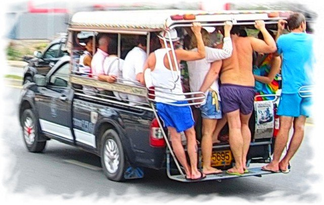Сонгтэо в паттайе маршруты
