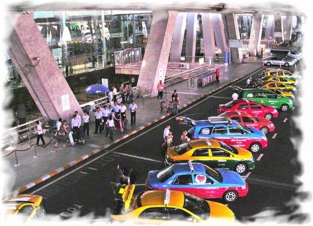 Taxi in Suvarnabhumi airport (Bangkok)