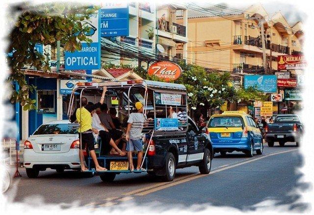 Транспорт в Паттайе - тук тук или сонгтэо