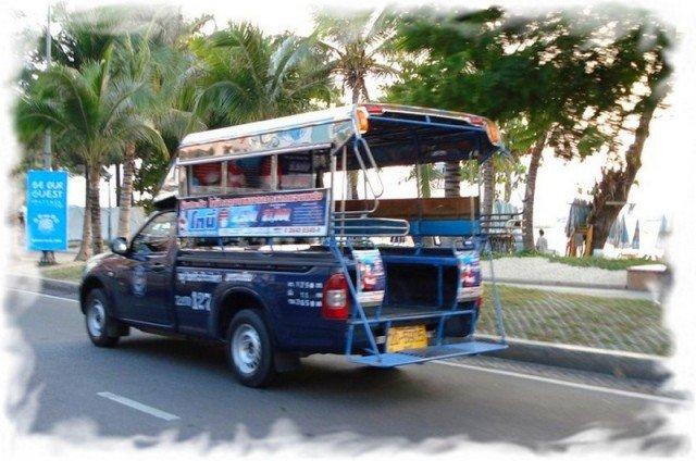 Транспорт в Паттайе - тук тук или сонгтэо за 10 бат