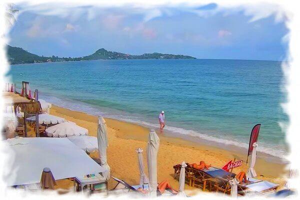 Панорама пляжа Ламаи — веб камера Ко Самуи