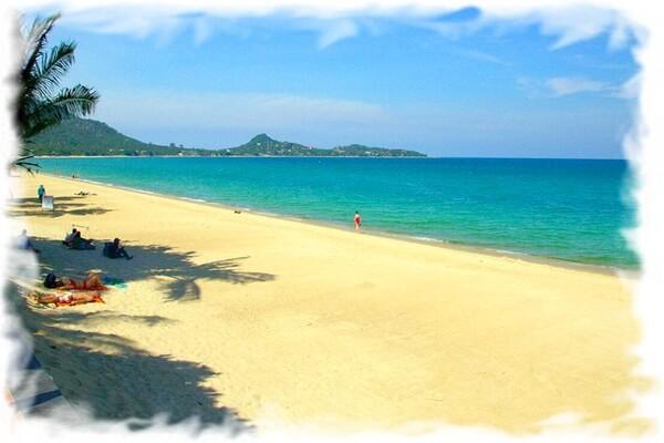 Панорама пляжа Ламаи — веб камера Самуи