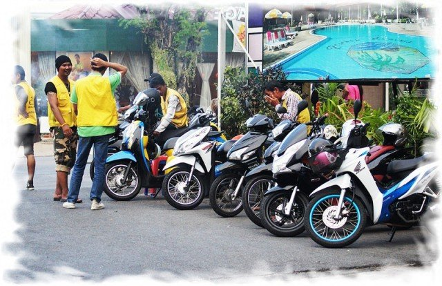 Мототакси в Паттайе фото