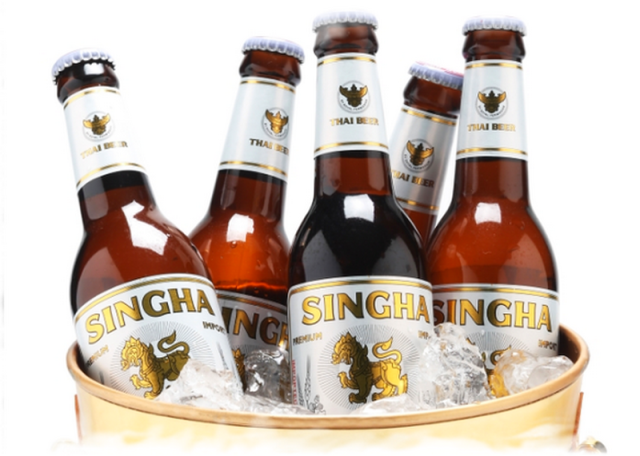 Thai beer Singha - most popular brand in country