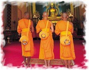 Буддийские  монахи Таиланде 2