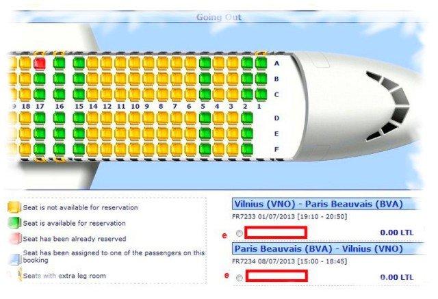 Как забронировать места в салоне самолета 1
