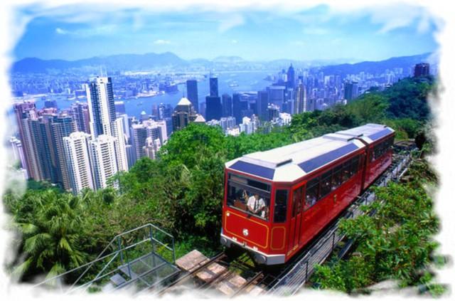 Пик Виктория трамвай Гонконг