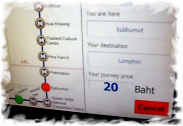 Подземное метро Бангкока MRT покупка жетона