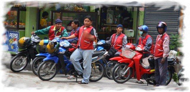 Мототакси в Бангкоке 2