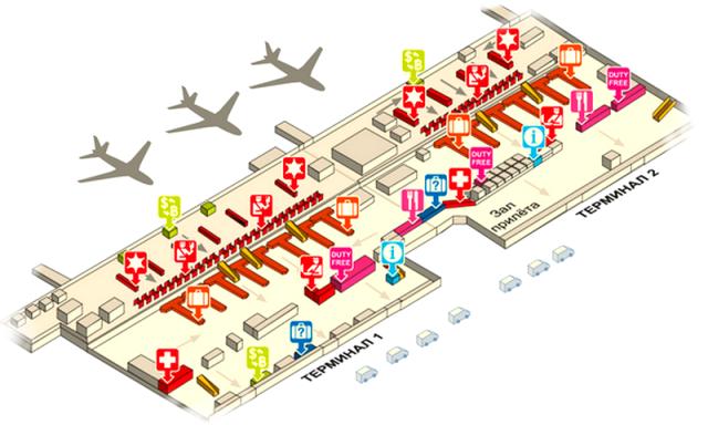 Дон Муанг аэропорт Бангкока схема 1а