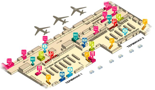 Дон Муанг аэропорт Бангкока схема 2