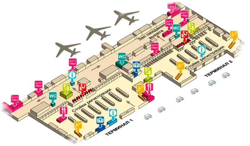 аэропорт Бангкока схема 2