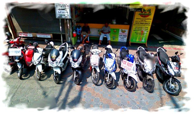 Аренда мотобайков в Таиланде 1
