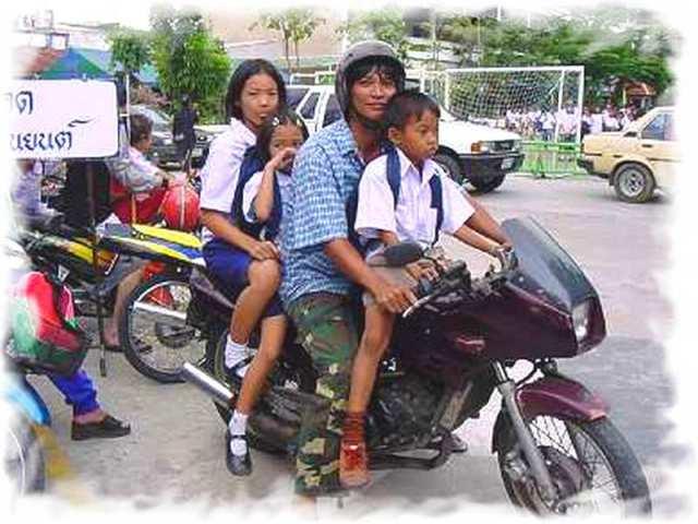 Езда на мотобайке в Таиланде 2