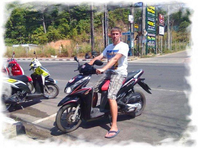 Как научиться ездить на мотобайке в Таиланде 3
