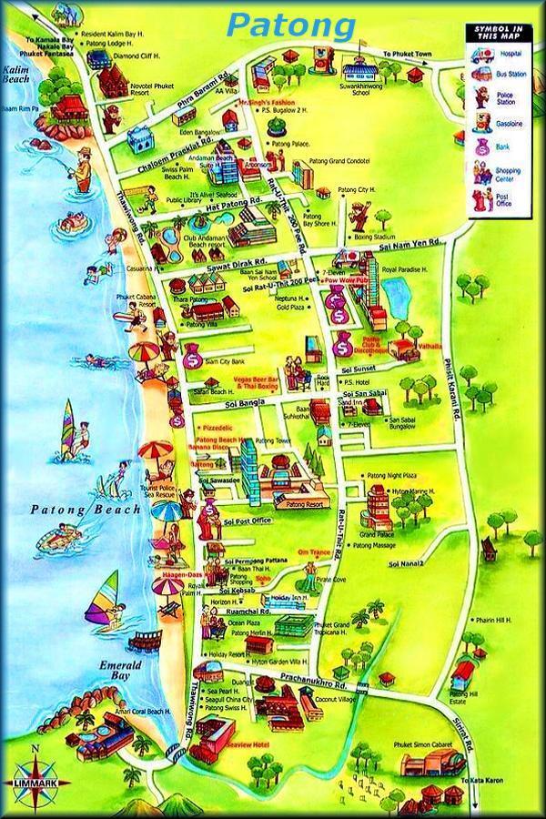 Карта  пляжа Пхукета Патонг