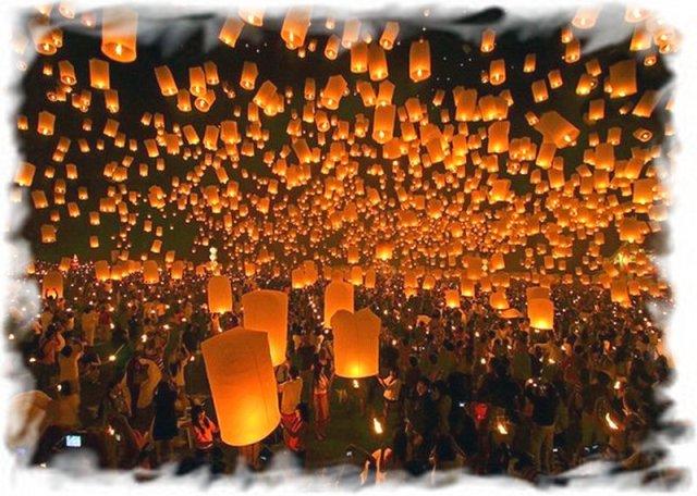 Небесные фонарики в Таиланде 2