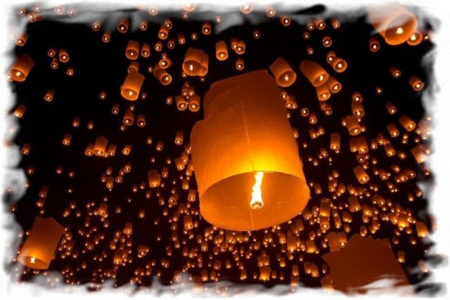 Небесные фонарики в Таиланде 3