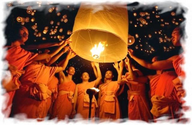 Небесные фонарики в Таиланде 5