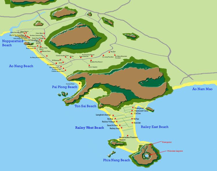 Карта Рейли и Ао НАнга