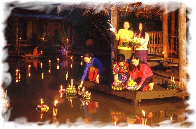 Лой Кратонг в Таиланде 4