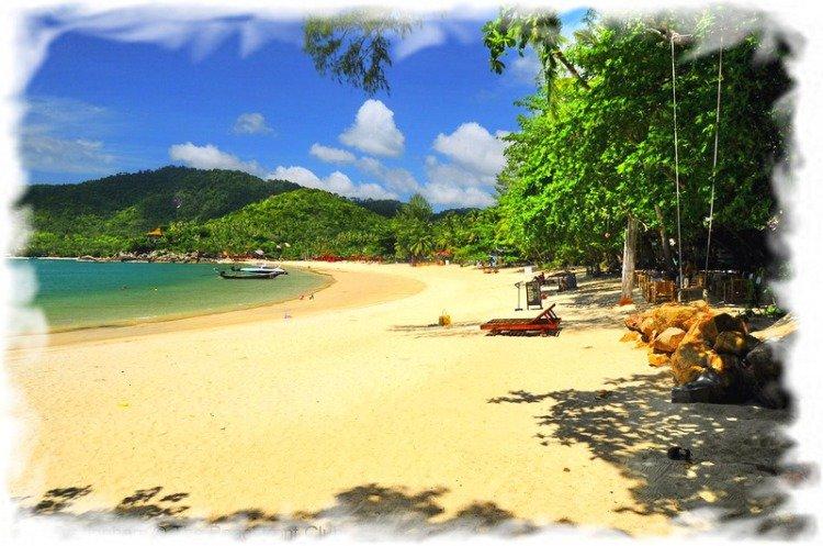 Остров Панган в Таиланде пляж