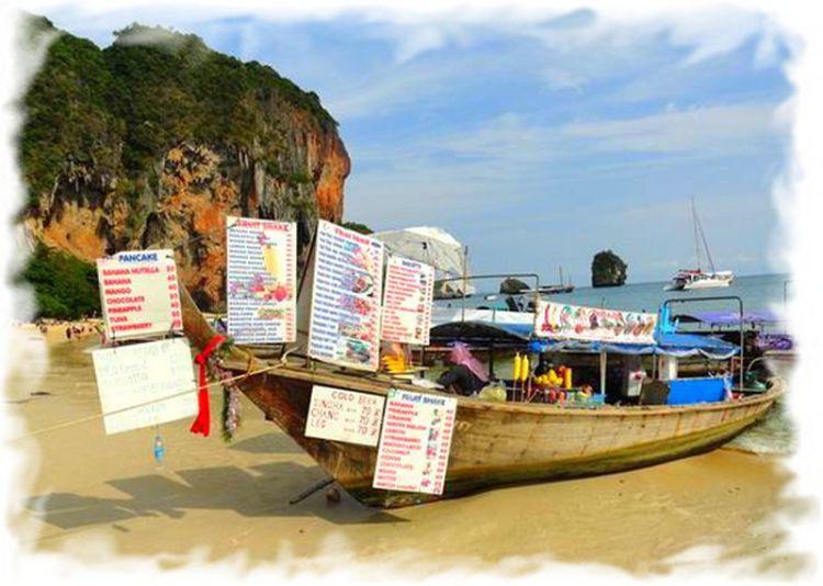 Полуостров Рейли  - питание с лодок