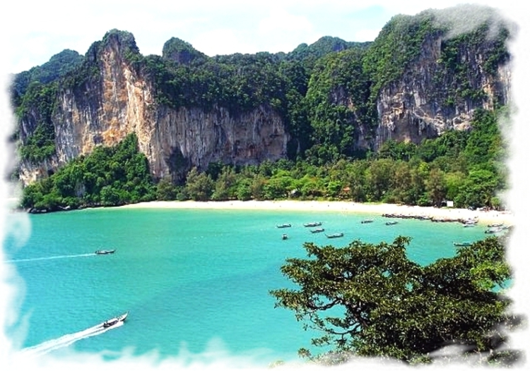 View from Taiwand wall,Krabi Thailand