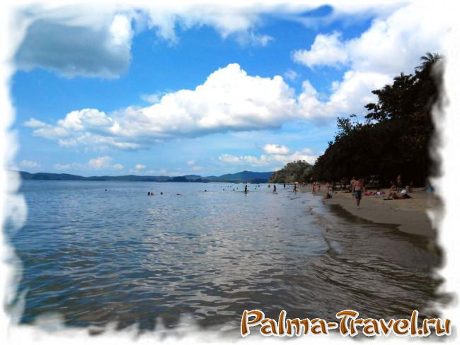 Вид на пляж Ао Нанг(южная часть) в полдень