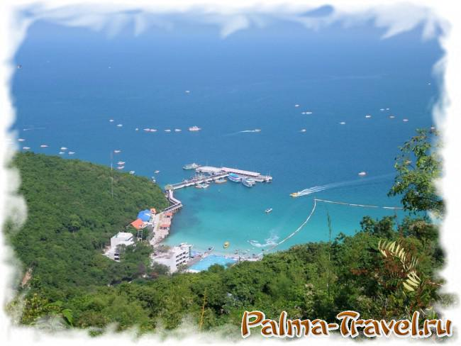 Ferry pier Tawaen Beach - view from above