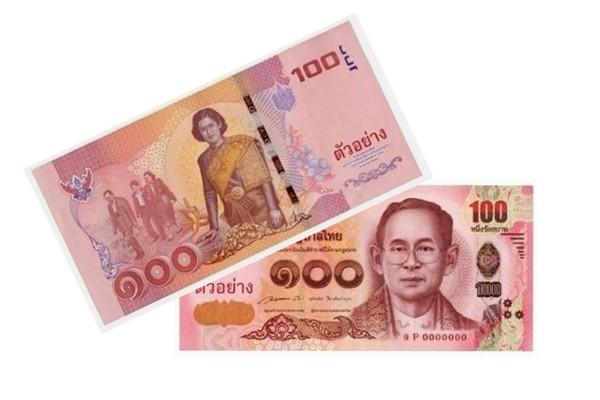 Новые банкноты 100 бат в апреле