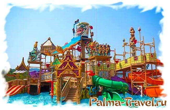 Детский водный городок Kids Aqua Play в аквапарке Рамаяна