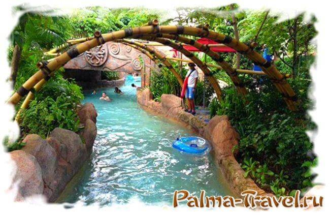 Lazy Wavy River в аквапарке Рамаяна в Паттайе