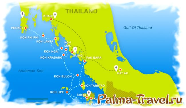 Море в Таиланде. Острова в Андаманском море