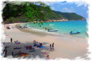 Веб-камера Пангана - пляж Хаад-Рин онлайн (Фулл Мун Пати)