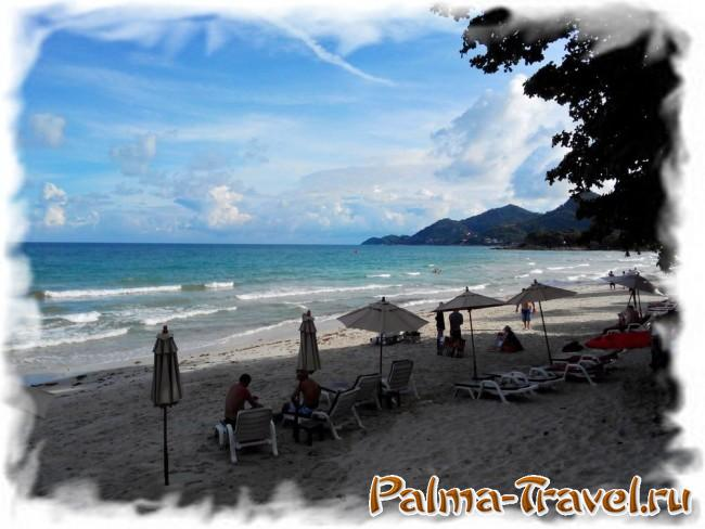Chaweng Cove beach Resort  - вид на пляж в другую сторону