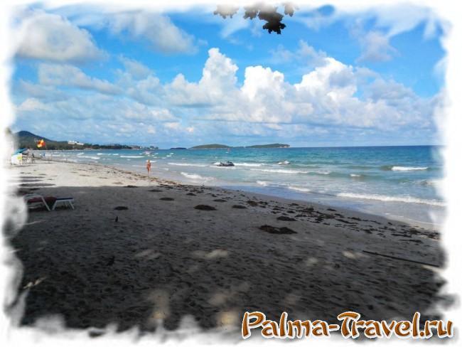 Chaweng Cove beach Resort  - вид на пляж псоле обеда