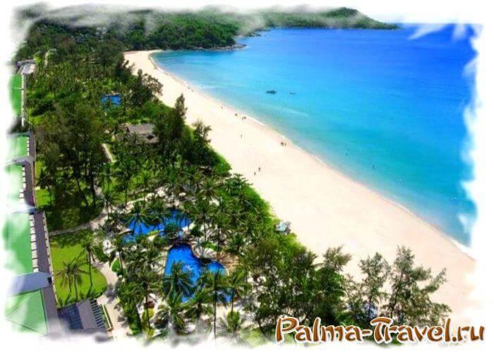 Великолепный собственный пляж отеля Katathani Phuket Beach Resort (5 звезд).
