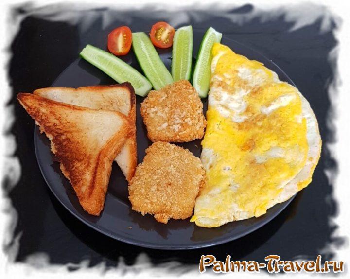 Ещё один вариант вкусного и недорогого завтрака, приготовленного самостоятельно