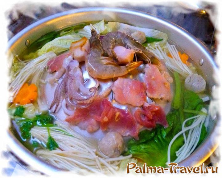 Тайский BBQ буфет - муката. Ешьте, сколько влезет