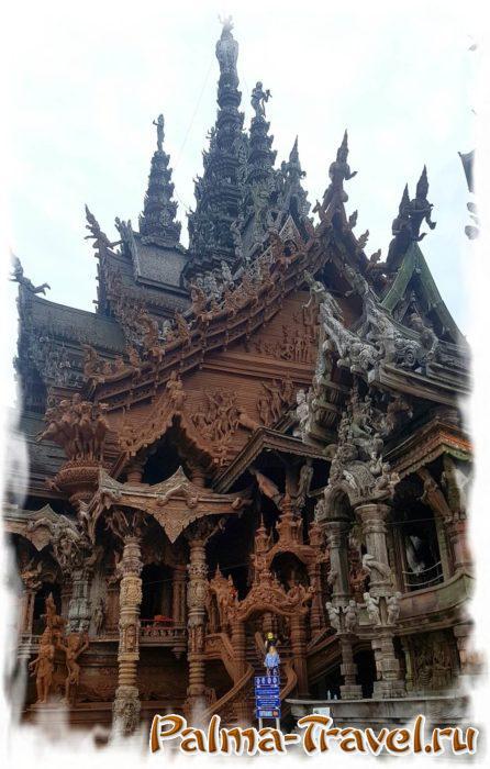 Храм Истины в Паттайе нуждается в постоянной реставрации