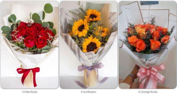 Галерея букетов на сайте доставки цветов Flowers-Bangkok