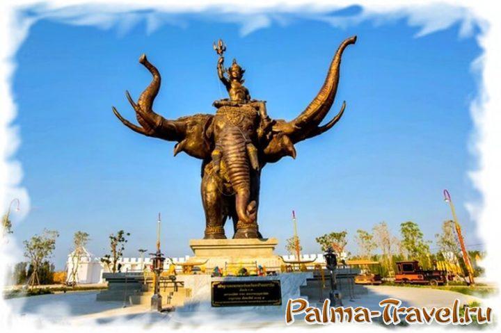 Статуя слона Эраван  в парке Легенда Сиама (Паттайя)