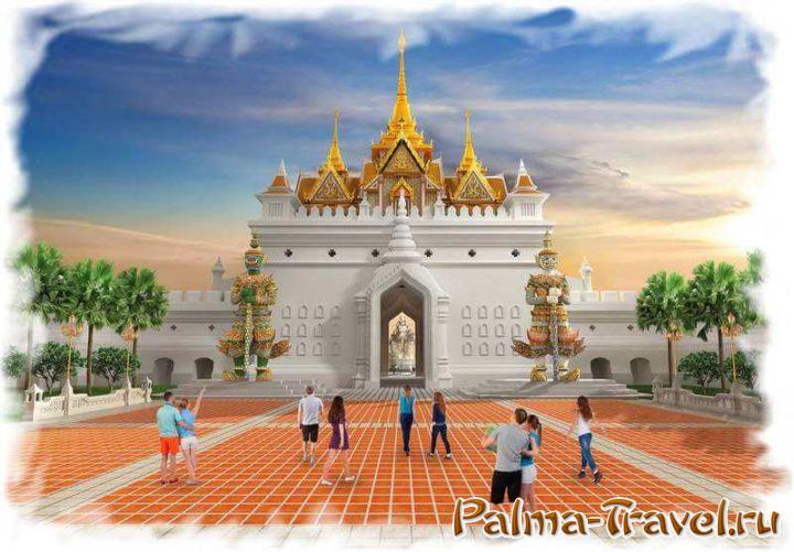 Входные ворота в парк Legend Siam в Паттайе